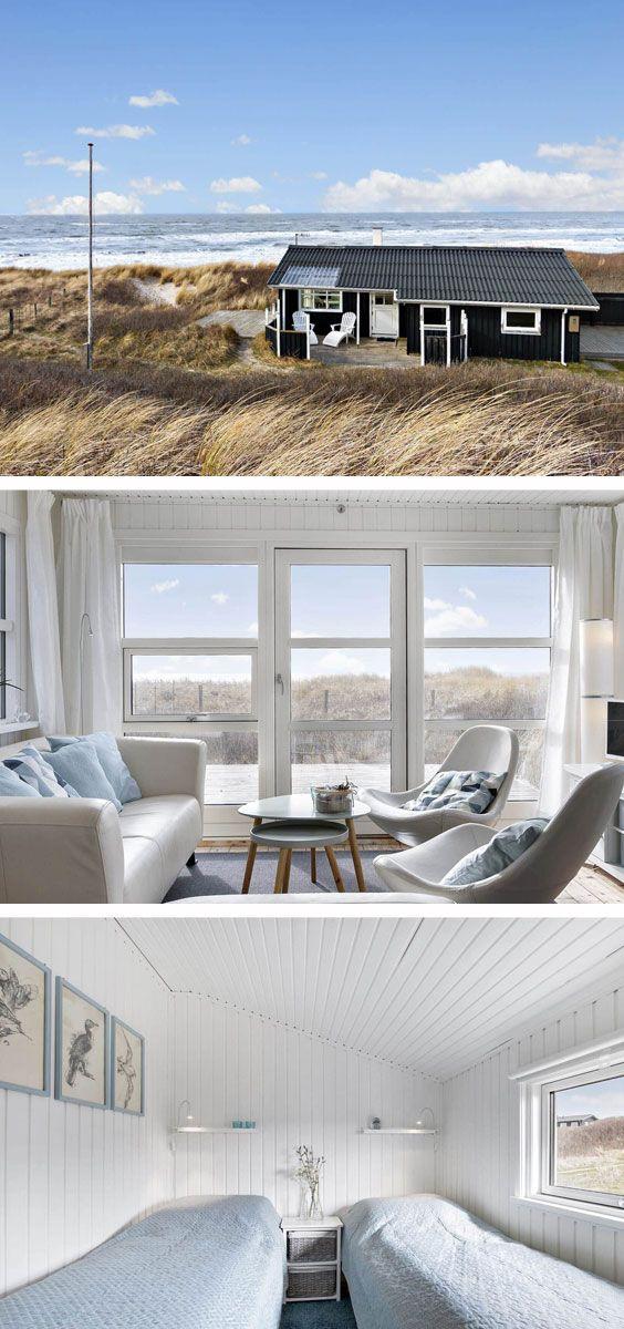 Kleines Ferienhäuschen mit tollem Blick auf die Nordsee. Perfekt für einen Urlaub zu zweit. #dänemark #urlaubzuzweit #urlaubmithund #sommer #meerblick #nordsee #strandhuis