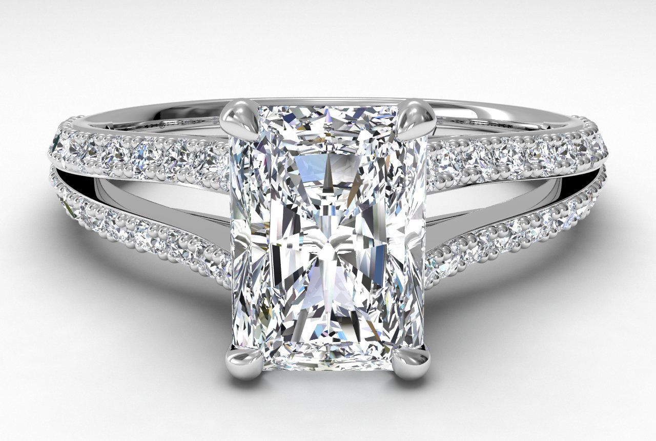 diamond radiant settings rectangular of unique cut for engagement to pertaining view inspirations rings