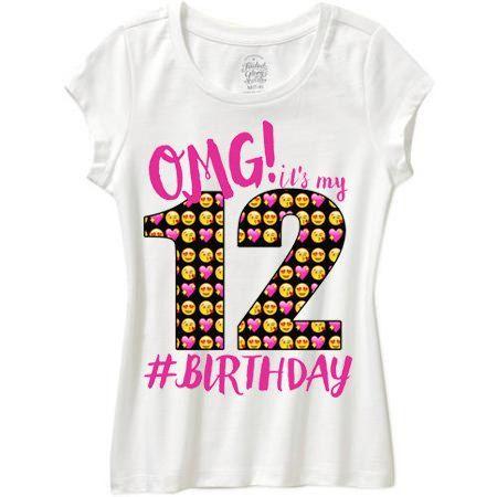 Black Shirt Omg Its My Birthday By WishesandkissesCo