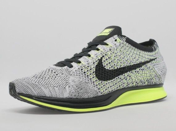 Nike Flyknit Racer – Grey/Volt/Black