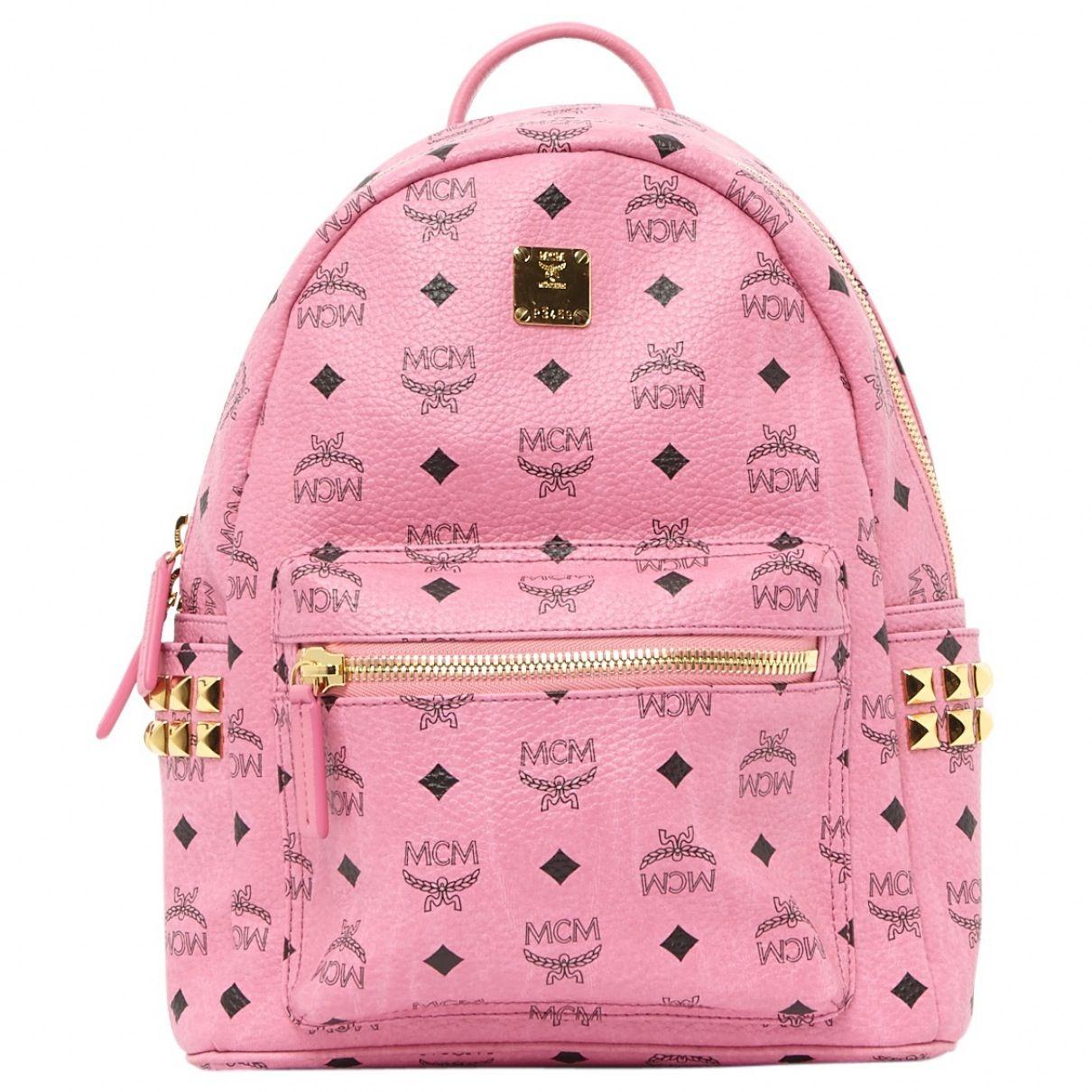 Pink backpack | MCM | Catchys | Rucksack mit nieten, Taschen