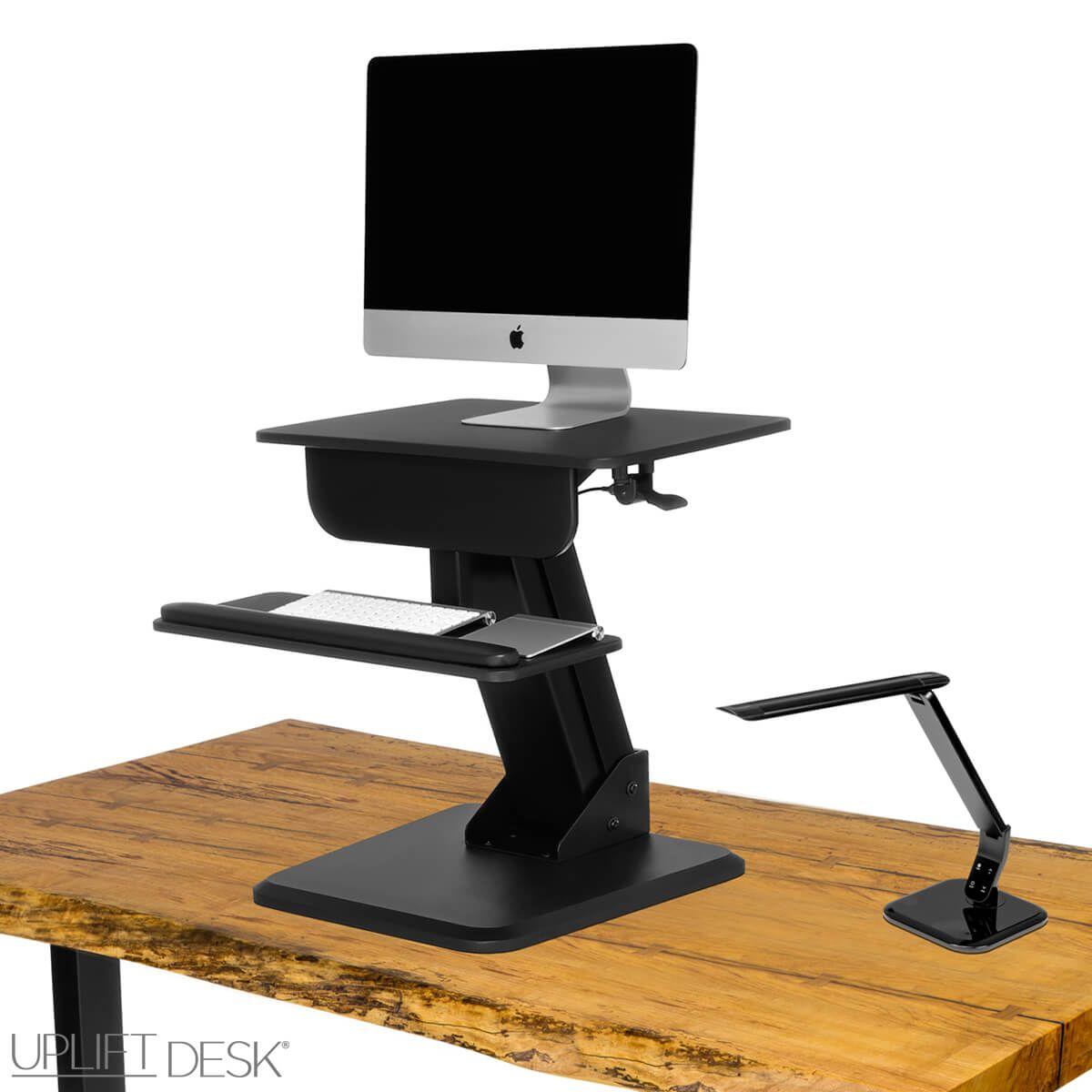 UPLIFT Height Adjustable Standing Desk Converter GRINDS