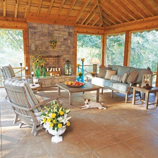 stein kamin ideen terrassenüberdachung aus holz | gartenideen,