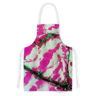 East Urban Home Tiger Love by Anne LaBrie Pink Artistic Apron