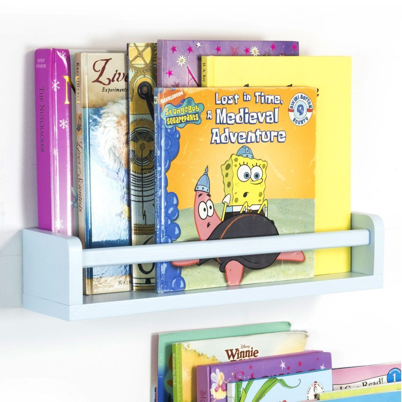 Amazon.com: Children\'s Wall Shelf Wood 17.5 Inch Multi-use Bookcase ...