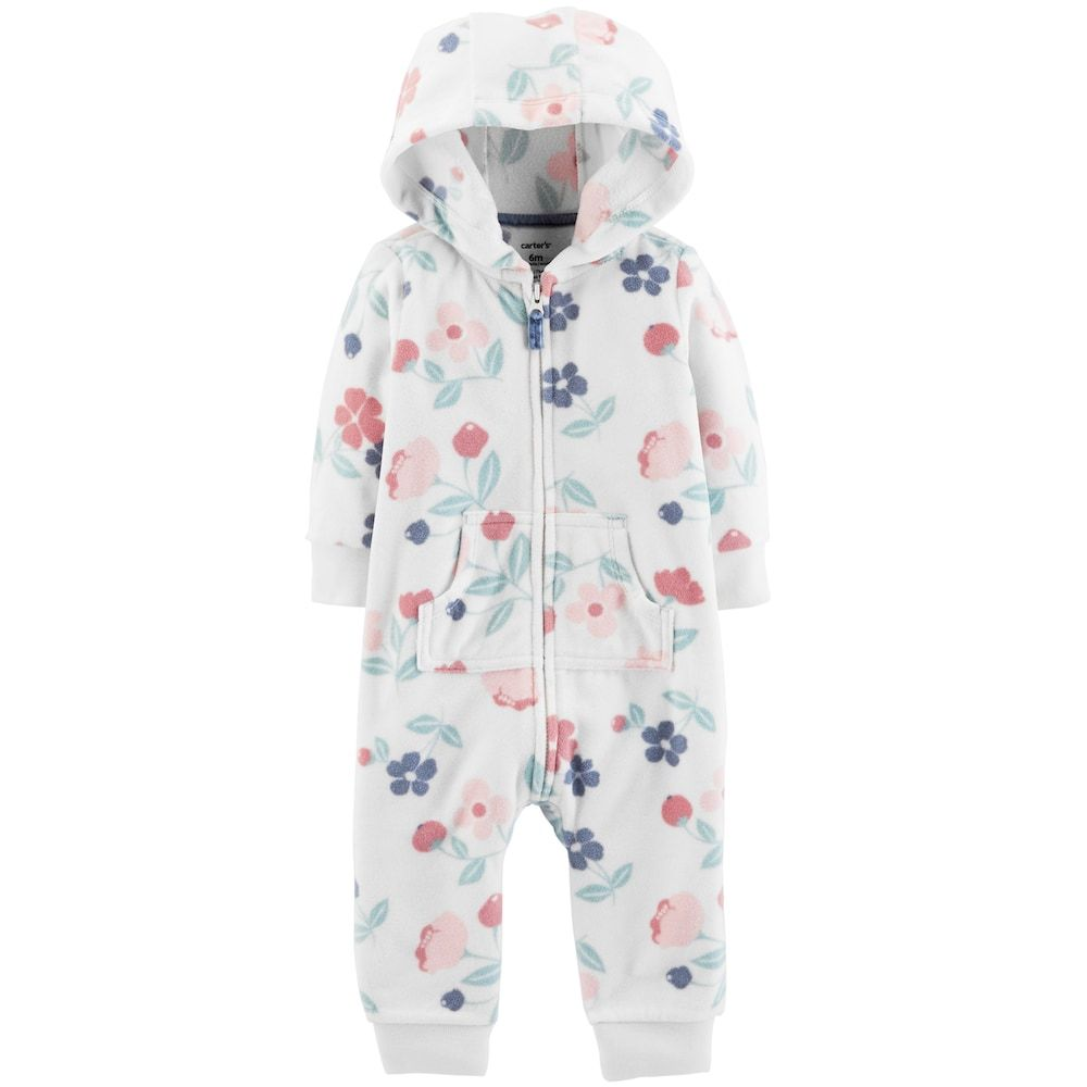 87f720e49 Baby Girl Carter s Hooded Floral Coverall