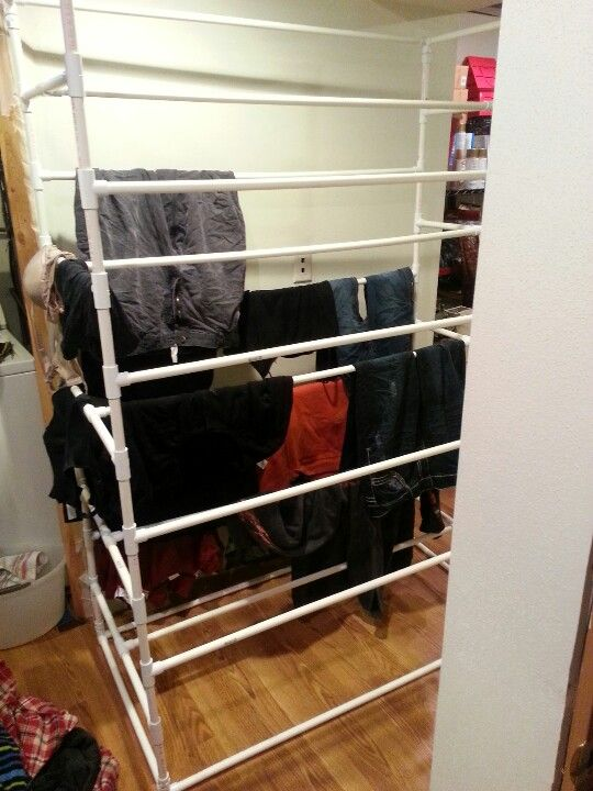 Large Pvc Pipe Laundry Drying Rack My Boyfriend Made Had To Share We
