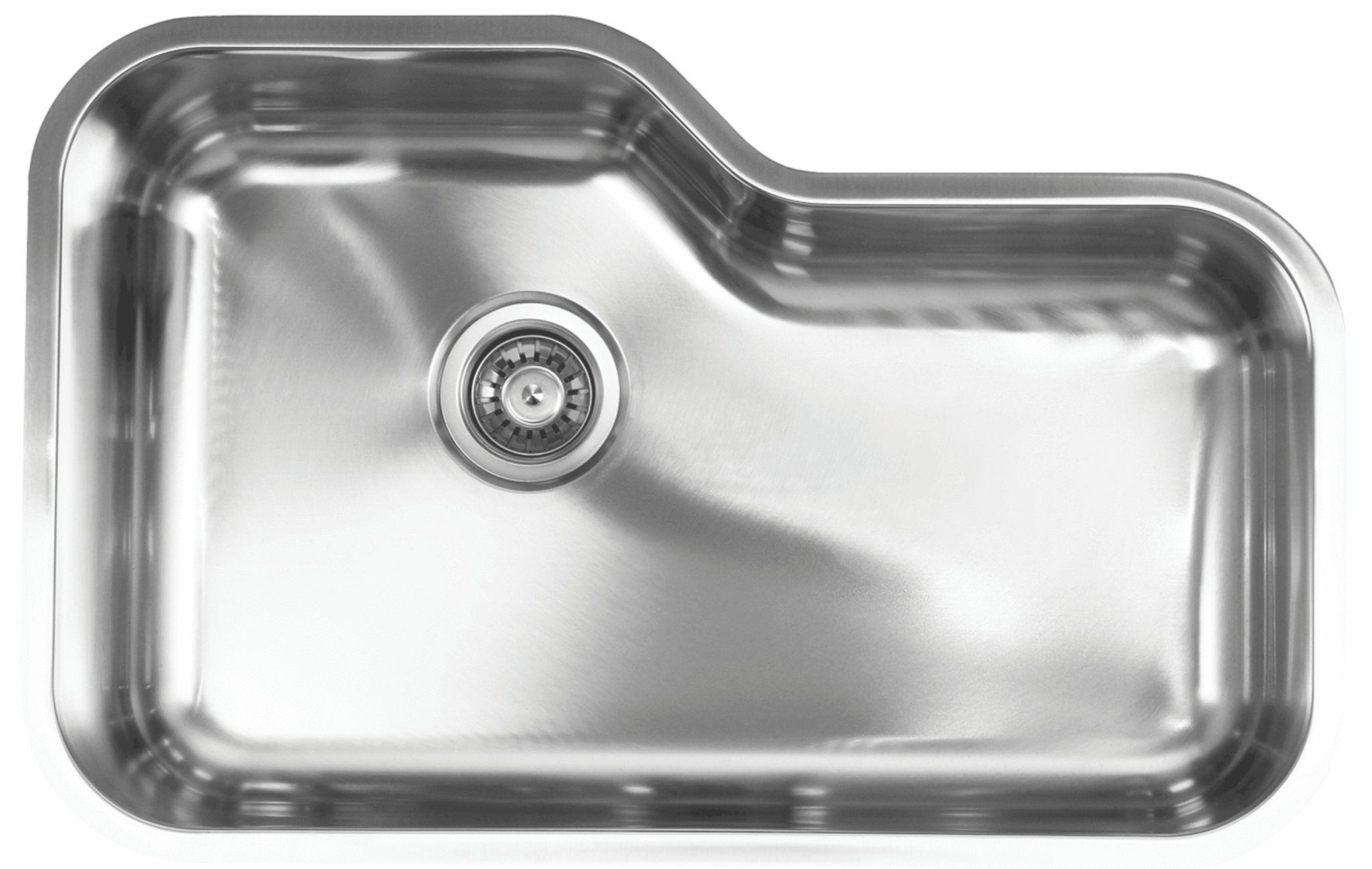 Waterloo Eurotech 16 Gauge Shape Single Bowl Sink Sink Steel