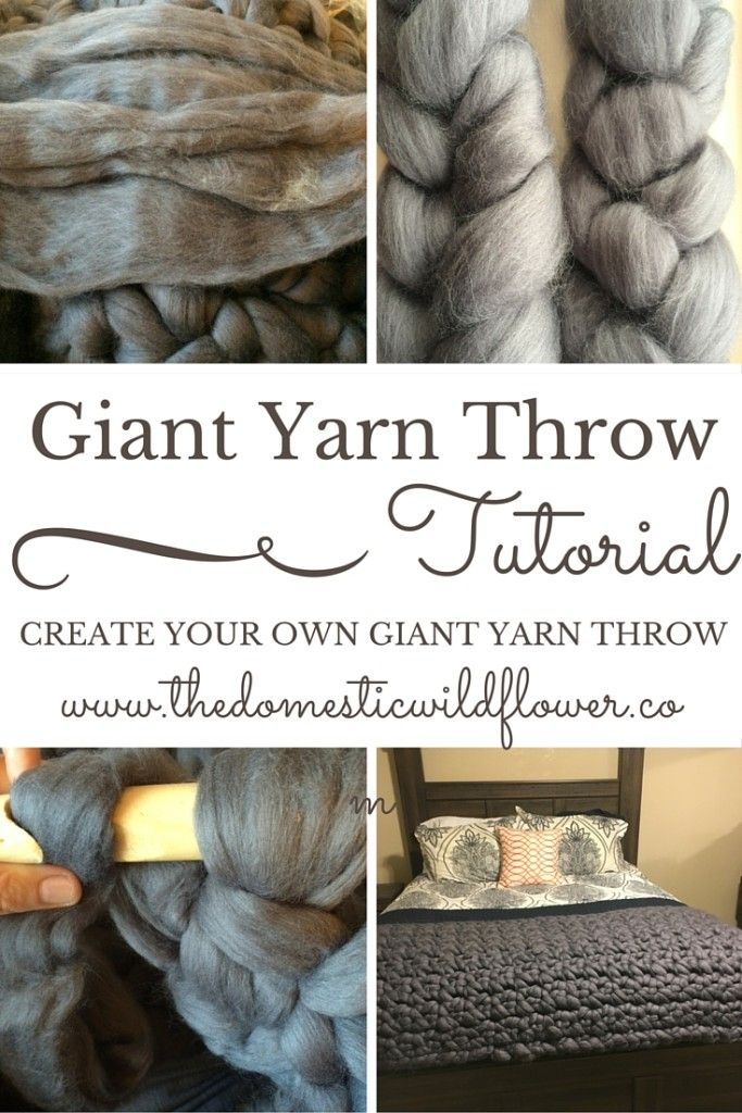 Giant Yarn Throw Tutorial | A Domestic Wildflower click to read the ...