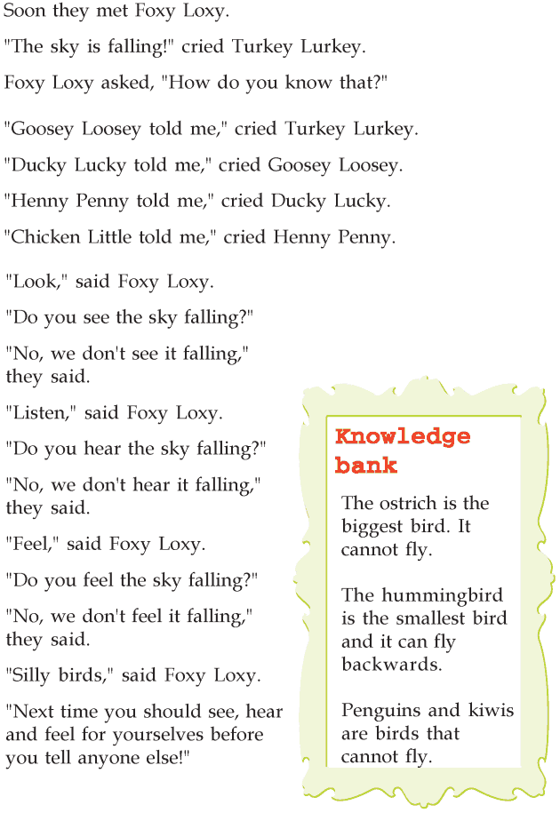 Grade 2 Reading Lesson 16 Fables And Folktales The Sky Is