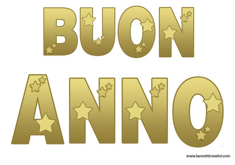 Buon Anno: festone da stampare in capodanno
