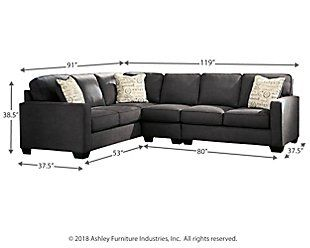 Best Alenya 3 Piece Sectional Ashley Furniture Homestore In 400 x 300
