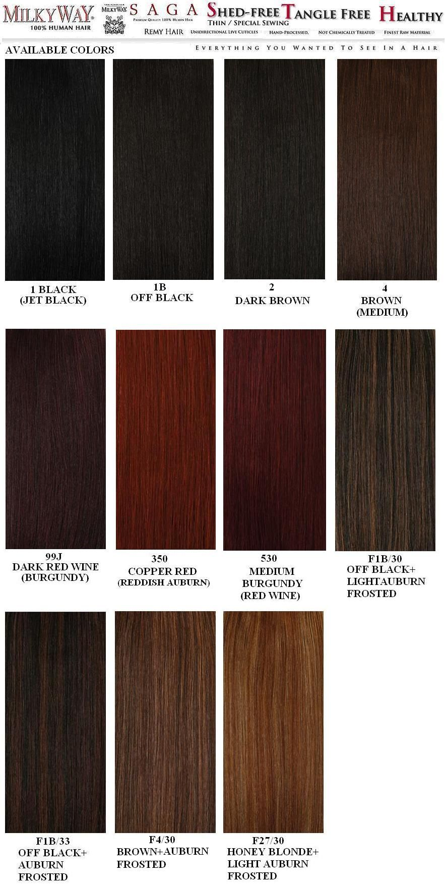 Weave Hair Color Chart Sovinsl Weave Weave Hair Color