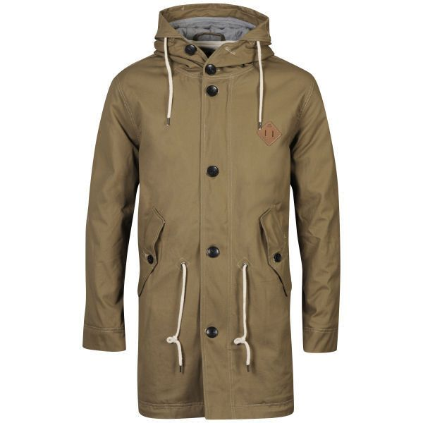 Urban Stone Men's Bunker Wax Cotton Parka Jacket found on Polyvore featuring polyvore, men's fashion, men's clothing, men's outerwear, men's jackets, chino, mens long jacket, mens jackets, mens parka jacket and mens hooded parka