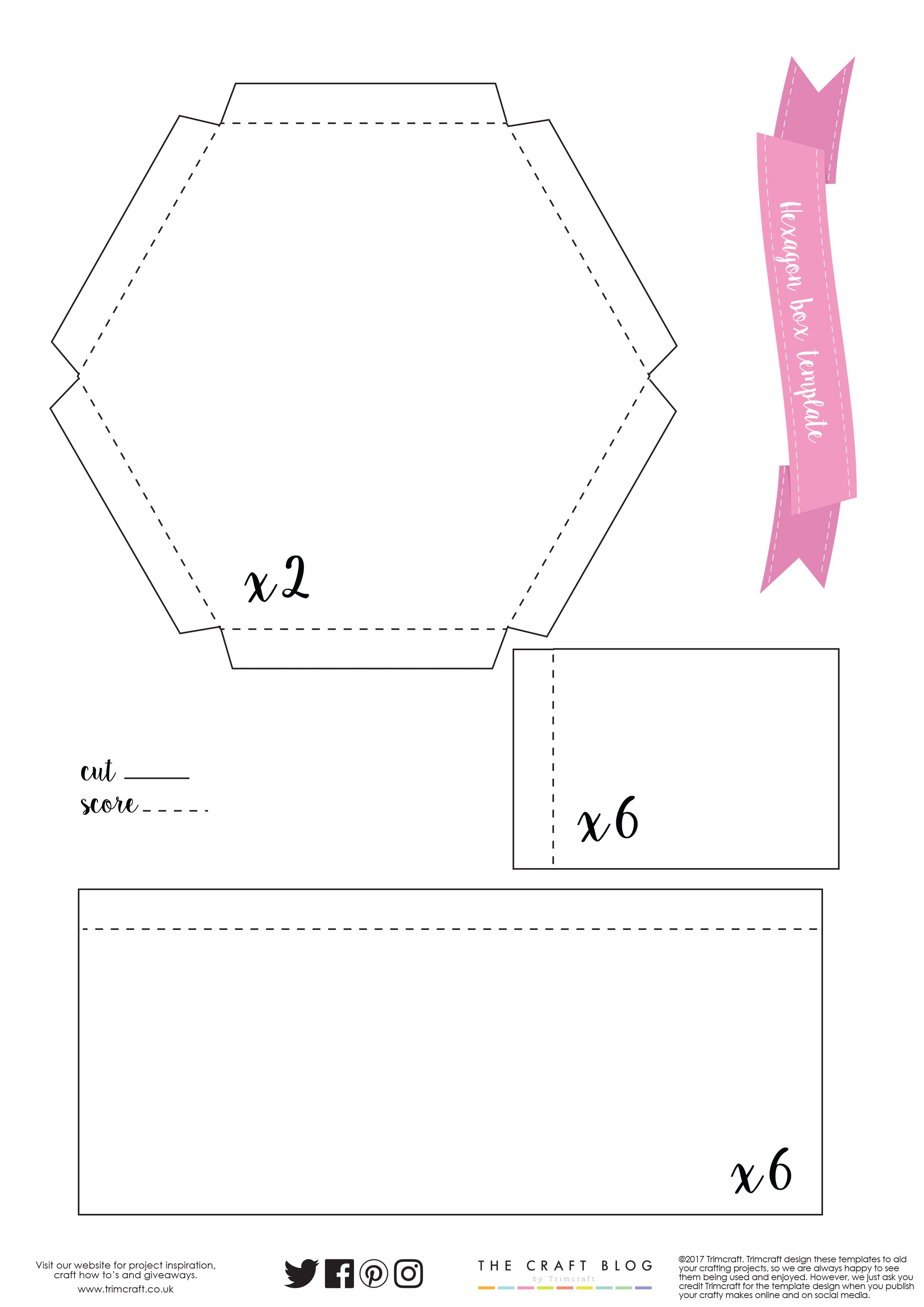 Download Our Free Hexagonal T Box Template Here