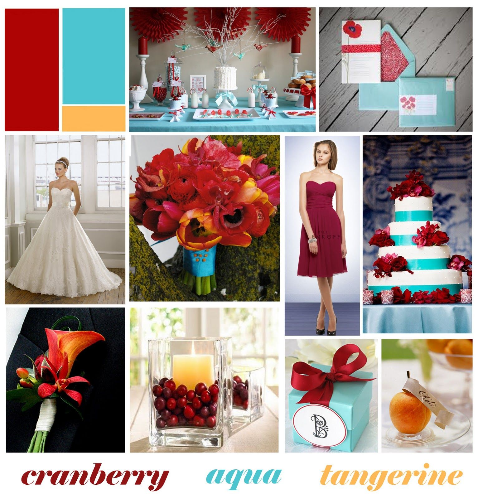 cranberry, aqua, and orange wedding. This is my official wedding ...