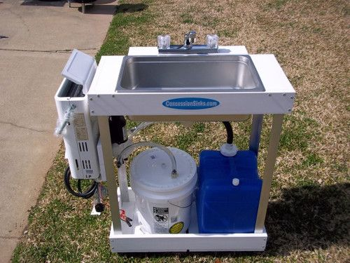 Portable Sink 3 Compartment Dish Washer For Camping