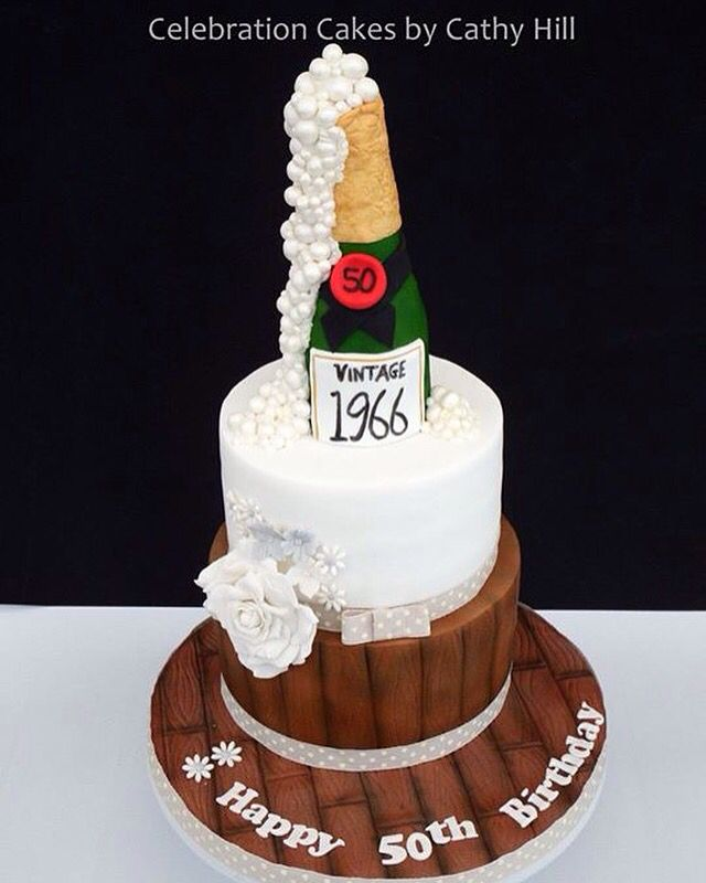 Champagne Bottle 50th Birthday Cake Party Ideas In 2019