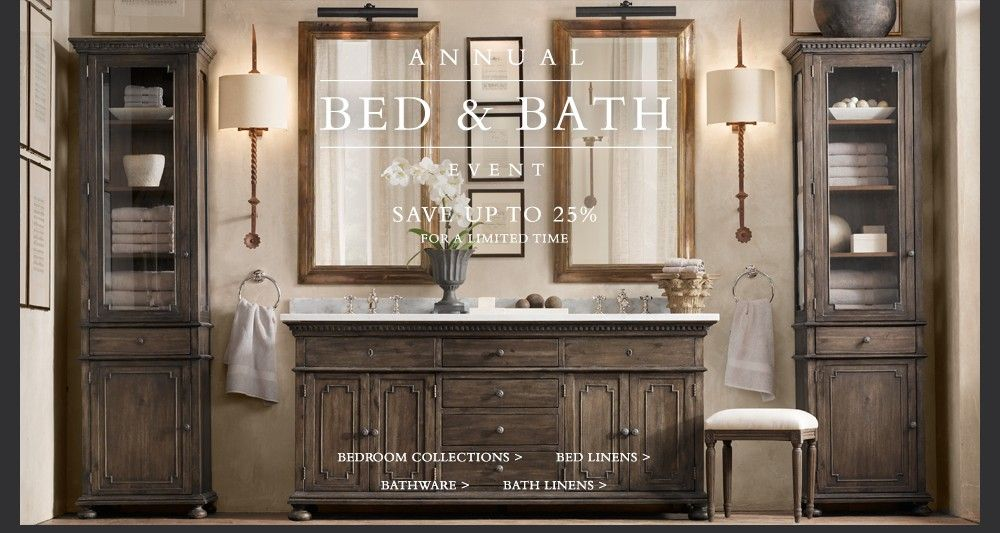Love, love, love this site. Restoration Hardware is an amazing site, offering many ideas with some fairly good sales. Enjoy!