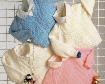 Baby Knitting Pattern Baby Matinee Coat Baby Angel Top by Minihobo