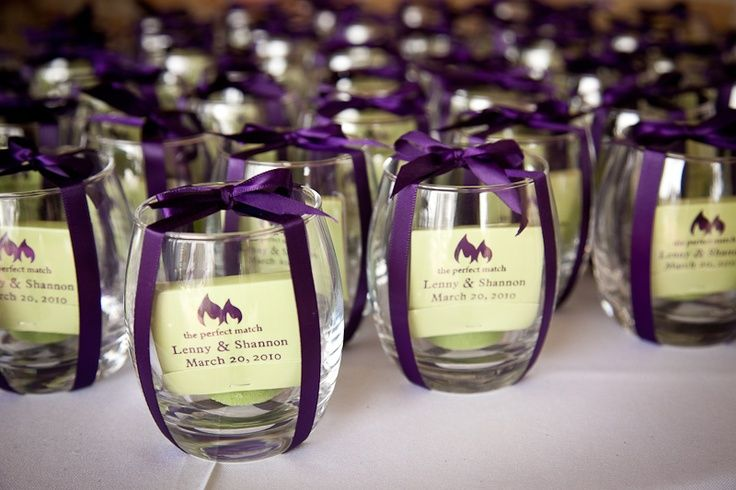 With These Stemless Wine Glasses There S Nothing To Get In The Way Of Your Celebration Remov Purple Wedding Favors Wedding Matches Favors Wedding Gift Favors
