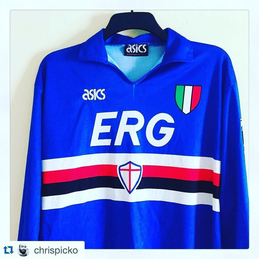 d79dd94590239e #Repost 1991/92 Sampdoria football shirt from @chrispicko - Sampdoria Home  1991-1992 #sampdoria #italia #retro #footballshirt #gazettafootballitalia  #90s ...