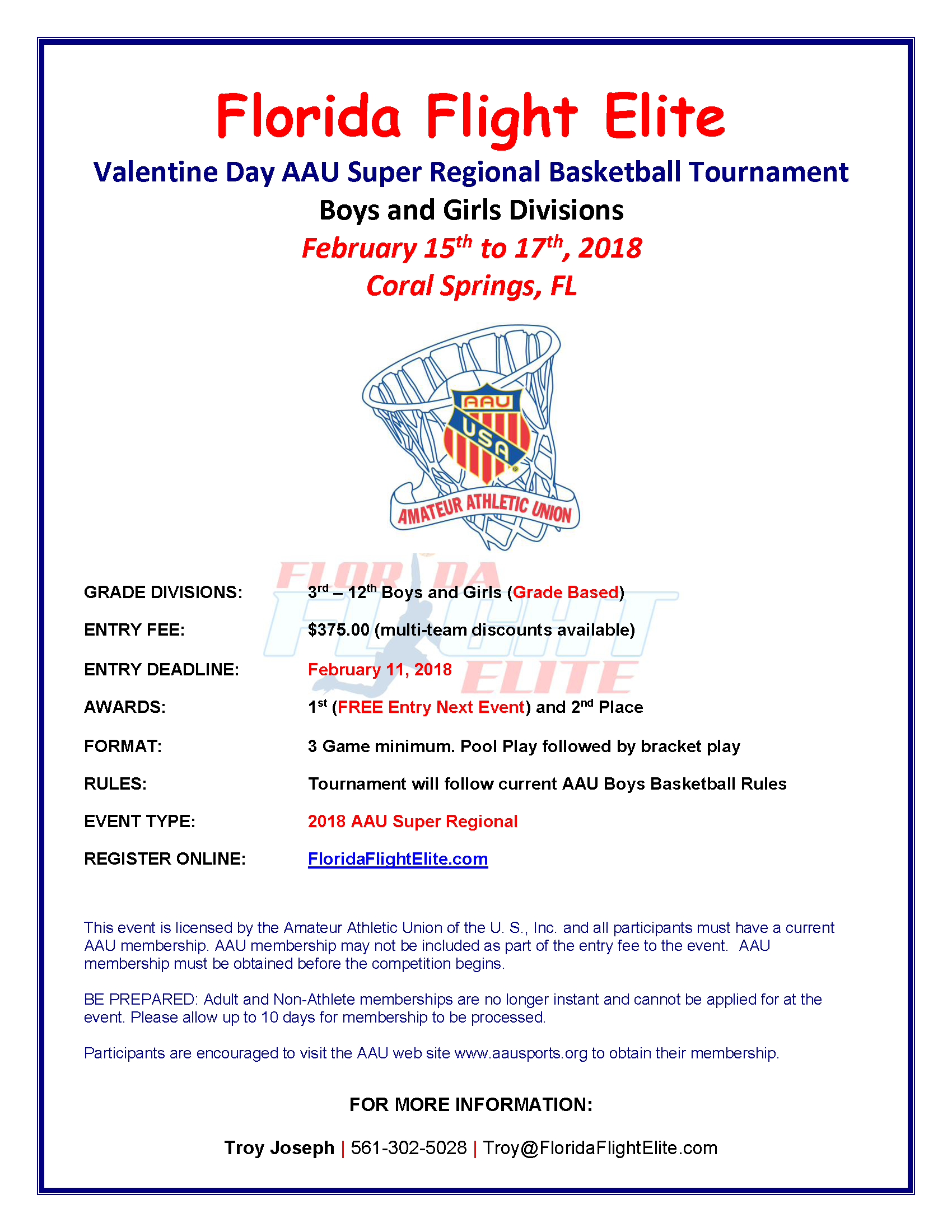 Welcome The 4th Annual Florida Flight Elite Valentine Day AAU Super Regional Basketball Tournament This Event Features Best Talent Throughout