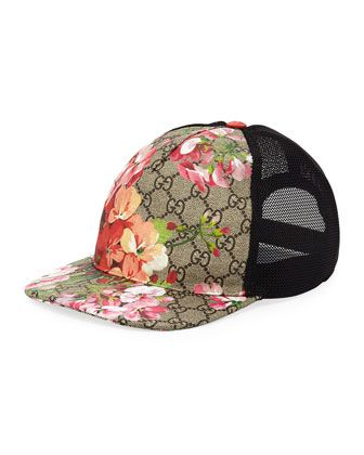4b2b0179 Blooms+GG+Supreme+Canvas+Baseball+Cap+by+Gucci+at+Neiman+Marcus. | i ...