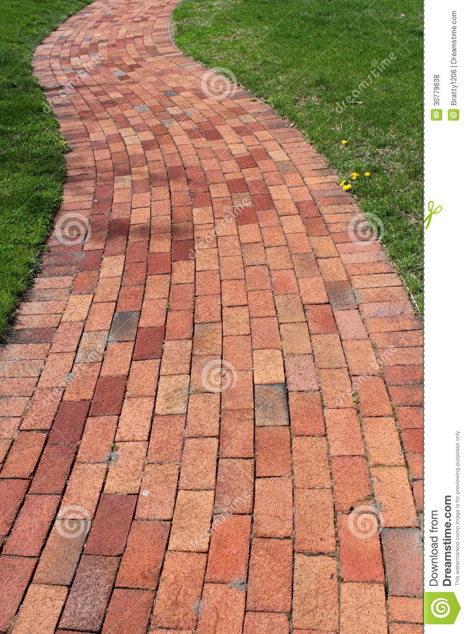 Pretty Curved Brick Walkway Brick Walkway Brick Sidewalk Brick Patios