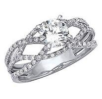 90 Ct Tw Criss Cross Diamond Engagement Ring H I I1