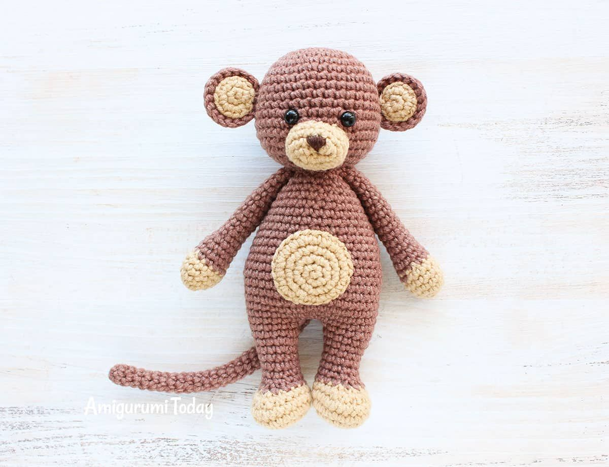 Free Cuddle Me Monkey Crochet Pattern | arte gracegurumi | Pinterest