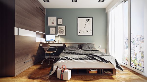 Bon Bedroom Office (600×337) | House Inspiration | Pinterest | Bedroom  Office, Contemporary And Bedrooms