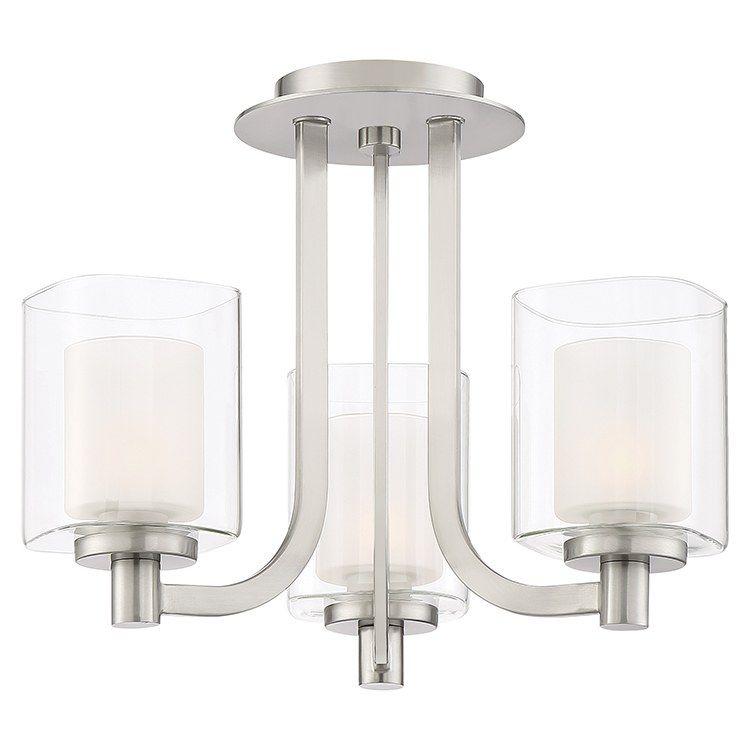 Quoizel Klt1715bn Kolt Three Light Convertible Semi Flush Mount Ceiling Fixture Chandelier In