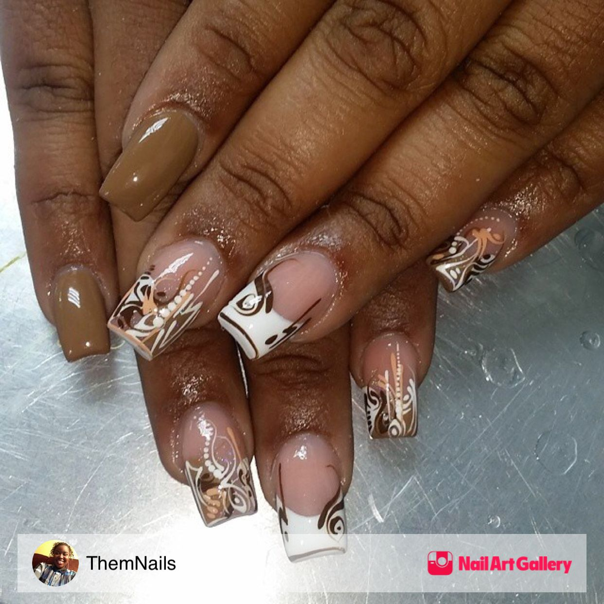 Nail Inspiration by ThemNails via Nail Art Gallery