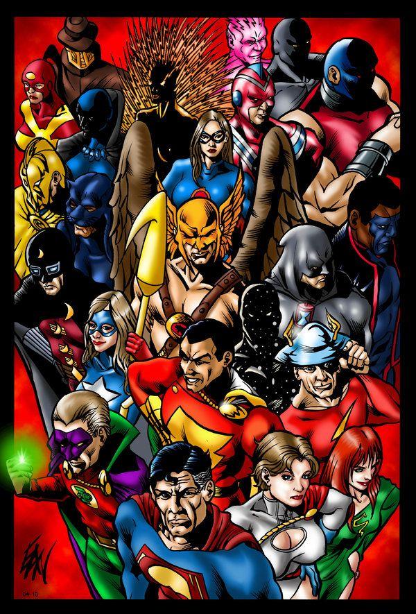 Justice Society Superhero Groups Dc Comics Superheroes Superman Art