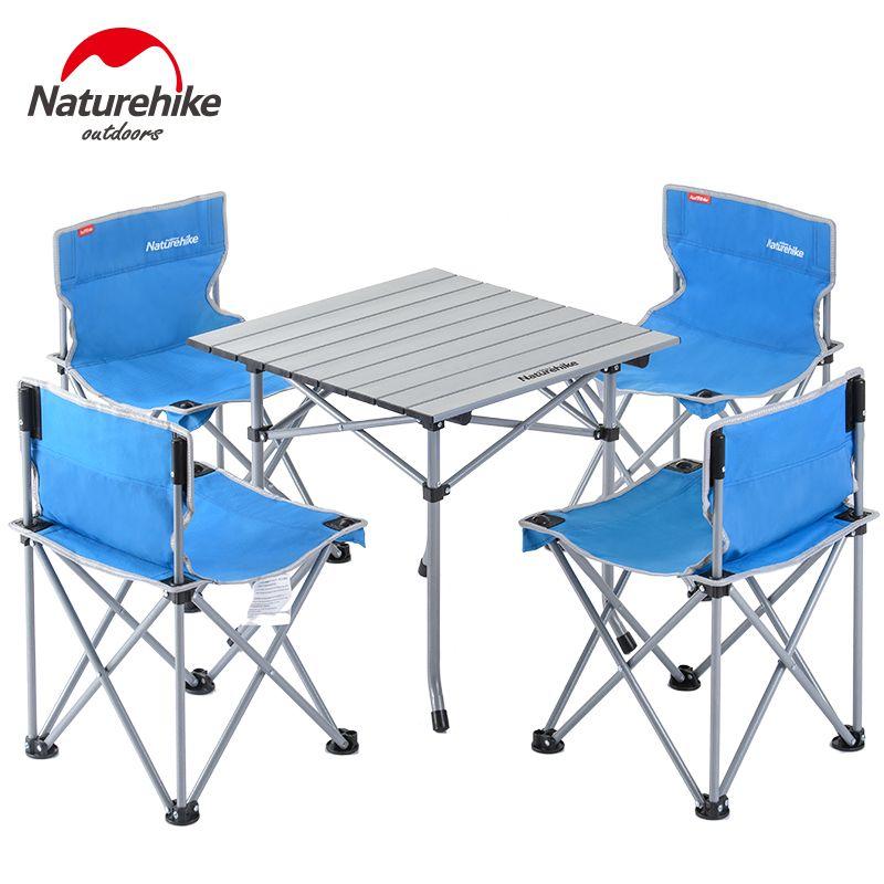 Brand Naturehike 2017 New Outdoor Folding Table Camping Aluminium Alloy Picnic Table Folding Table D Folding Picnic Table Camping Chairs Outdoor Table Settings