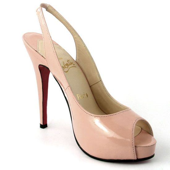 dccec201439 Christian Louboutin No. Prive 120 Leather Slingbacks Pink ...