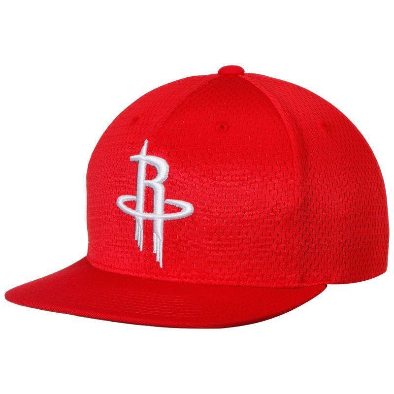 766f9d4484c85 Houston Rockets Mitchell   Ness Jersey Mesh Snapback Adjustable Hat - Red