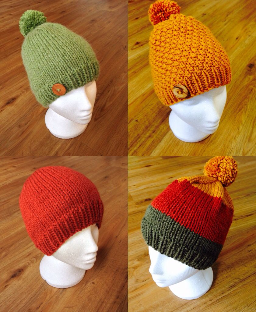 More hand knitted beanie hats!