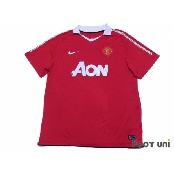 Photo1 Manchester United 2010 2011 Home Shirt Nike Aon Football Shirts Soccer Jerseys Vintage Classic Retro Online Store From Footuni Japan