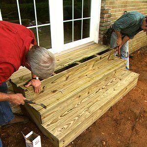 Best Build Wooden Exterior Steps Patio Steps Concrete Patio 400 x 300
