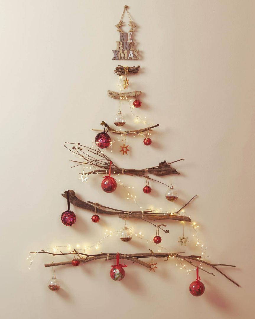 Zara Home On Instagram Introducing The Handcrafted You Will Need A Wall Some Branches And A Ha Red Christmas Decor Wall Christmas Tree Christmas Decor Diy