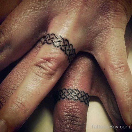 Celtic Knot Wedding Ring Tattoo Tb117 A Girl Has Wants And Needs