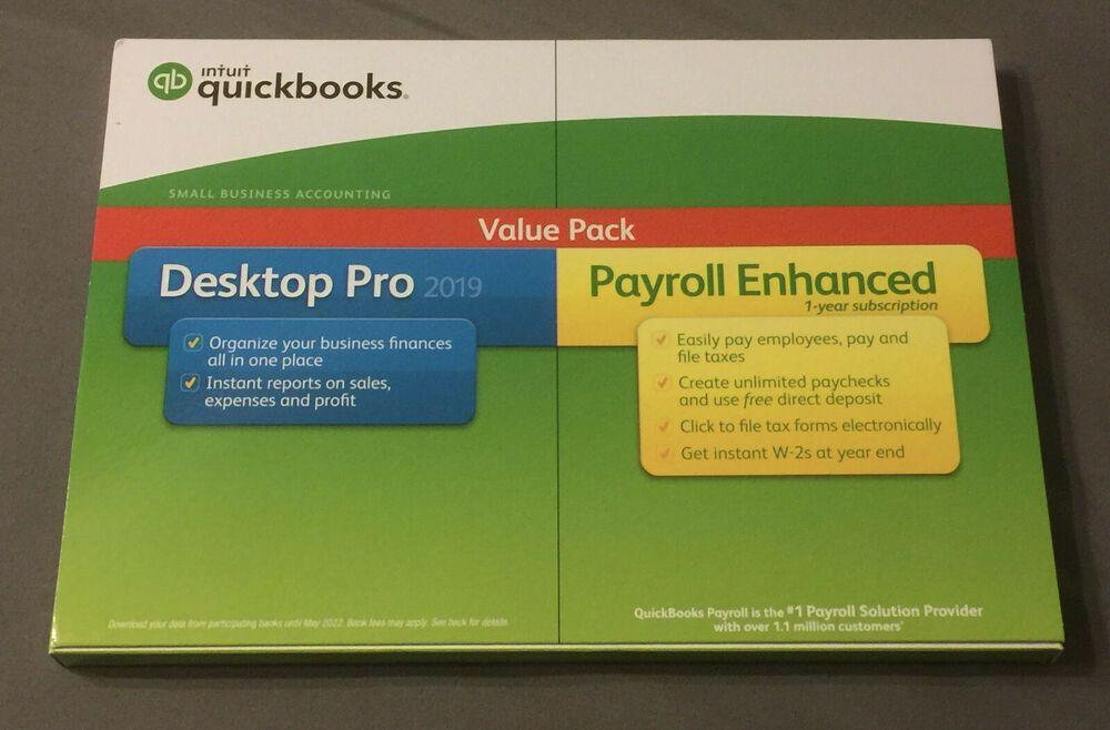 Ebay Sponsored Quickbooks Desktop Pro 2019 W Payroll Enhanced Windows Disc 606011 028287553989 Quickbooks Small Business Accounting Payroll