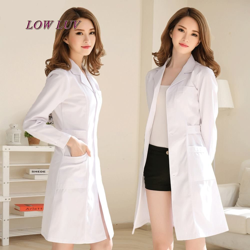 Surgicall clothing White coat long-sleeve doctor clothing washable ...