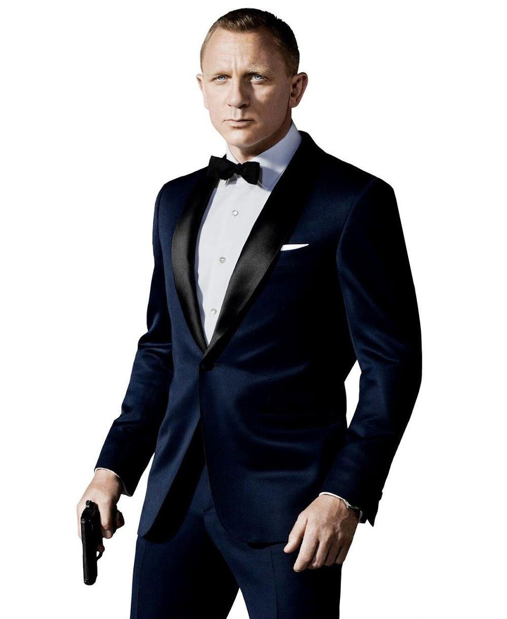 Groom Tuxedos Prom Wedding Suit (Jacket+Pants+Bow Tie ...