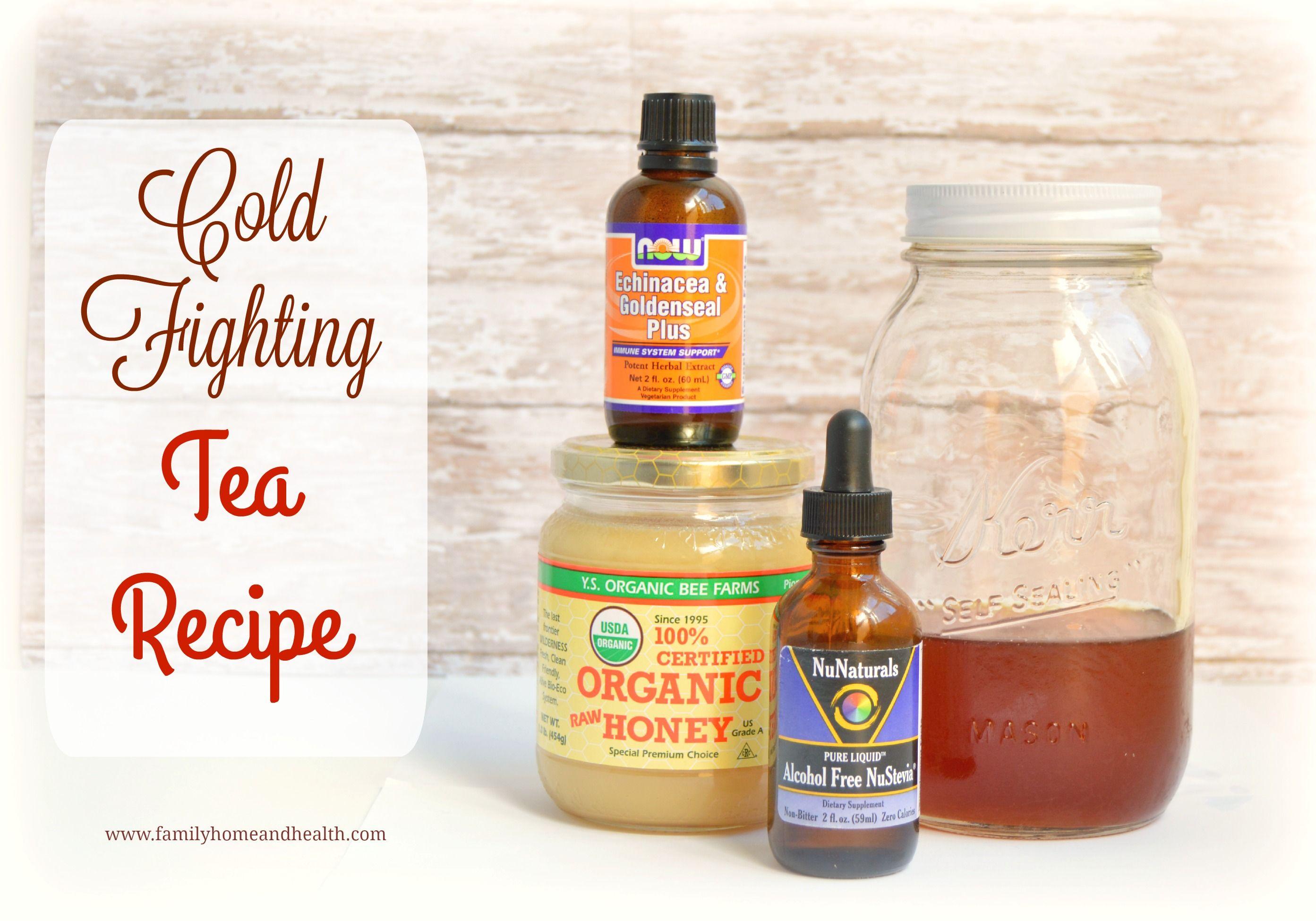 Cold fighting tea recipe family home and health tea