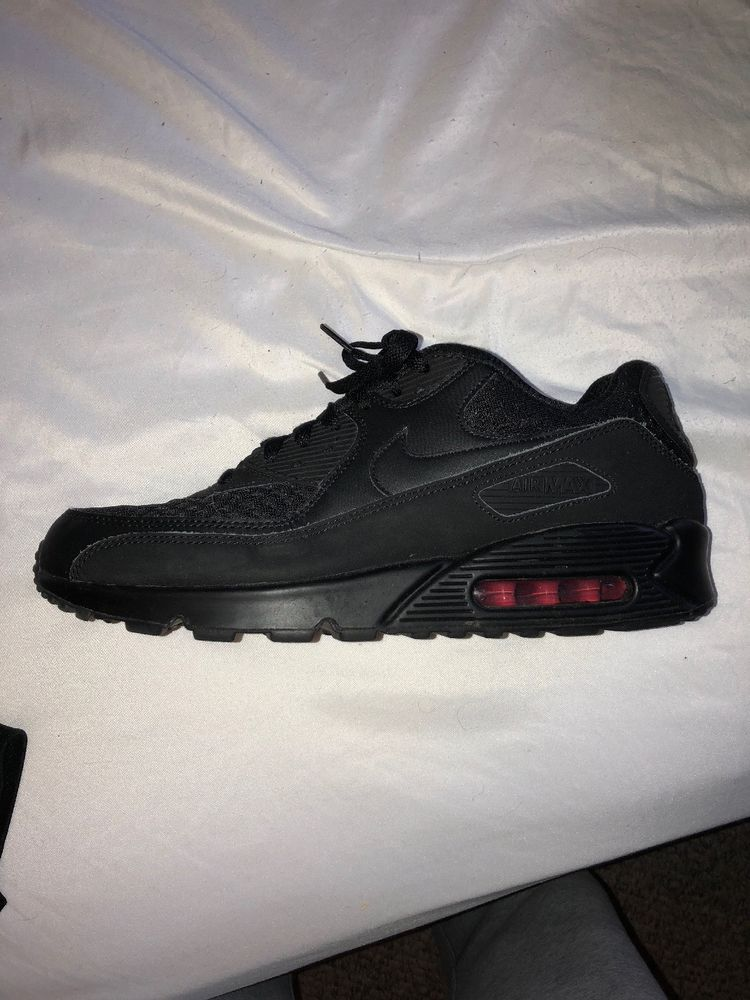 ea76cda3005e Nike Air Max 90 Essential Black Red Preowned  fashion  clothing  shoes   accessories  mensshoes  athleticshoes (ebay link)