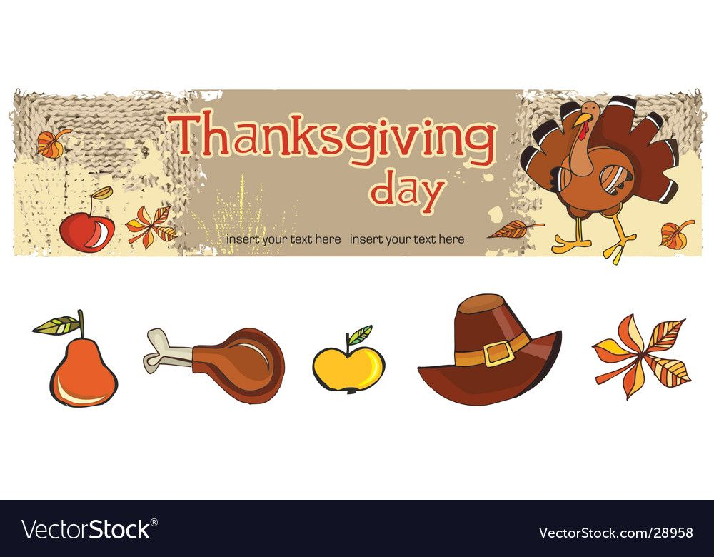 Thanksgiving banner and icons Royalty Free Vector Image , #SPONSORED, #icons, #banner, #Thanksgiving, #Royalty #AD