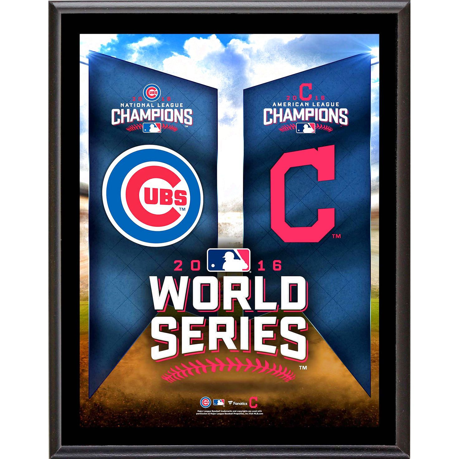 7028e13ab Fanatics Authentic Cleveland Indians vs. Chicago Cubs 2016 MLB World Series  10.5